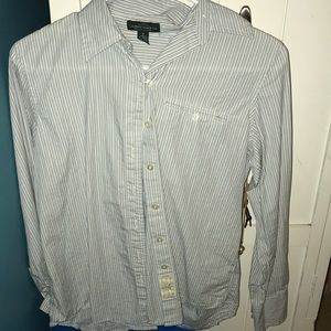 Blue and white striped Ralph Lauren button down